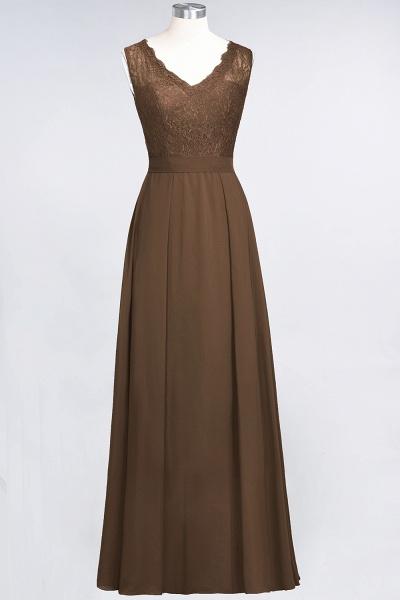 A-Line Chiffon Lace V-Neck Sleeveless Floor-Length Bridesmaid Dress_12