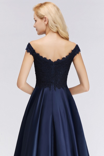 BM0067 Elegant Off-the-Shoulder Ruffles Beads Sleeveless Bridesmaid Dress_5