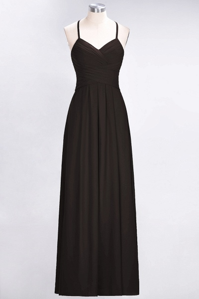 A-Line Chiffon Halter V-Neck Sleeveless Floor-Length Bridesmaid Dress with Ruffles_11