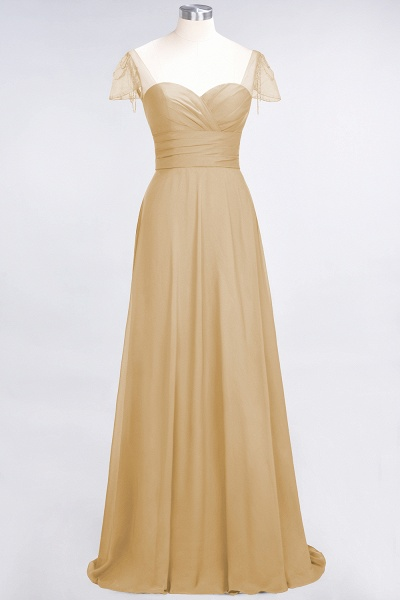 A-Line Chiffon Sweetheart Cap-Sleeves Ruffle Floor-Length Bridesmaid Dress with Beadings_13