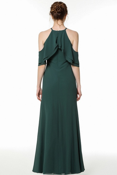 BM0825 Gorgeous Straps Dark Green Floor Length Bridesmaid Dress_2