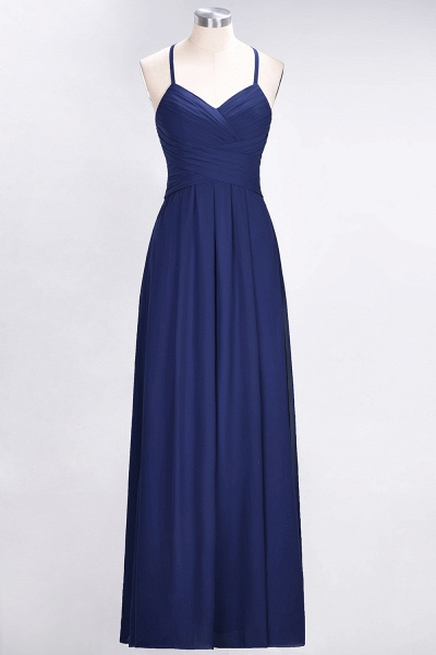 A-Line Chiffon Halter V-Neck Sleeveless Floor-Length Bridesmaid Dress with Ruffles_25