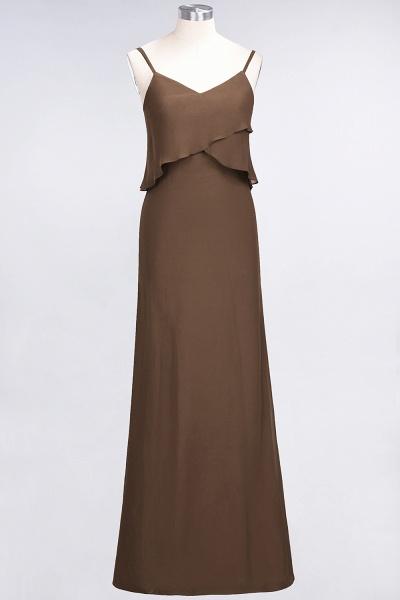A-Line Chiffon Spaghetti-Straps V-Neck Sleeveless Floor-Length Bridesmaid Dress_12