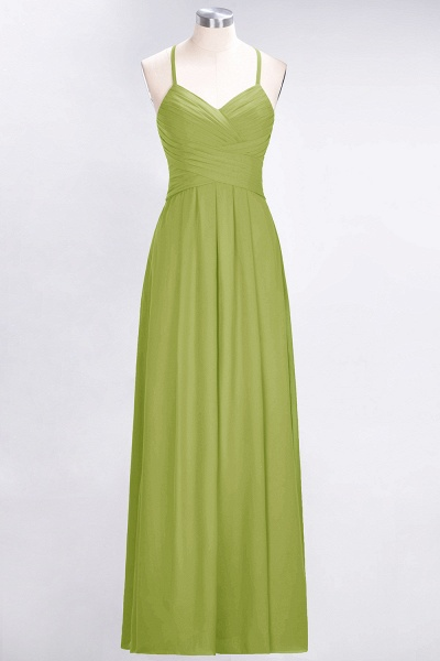 A-Line Chiffon Halter V-Neck Sleeveless Floor-Length Bridesmaid Dress with Ruffles_32