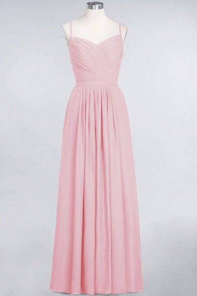 A-Line Chiffon Spaghetti-Straps Sweetheart Sleeveless Floor-Length Bridesmaid Dress with Ruffles_4