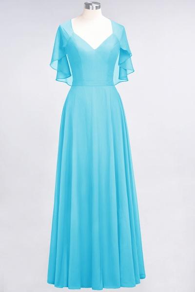 A-Line Chiffon Satin V-Neck short-sleeves Floor-Length Bridesmaid Dress_23