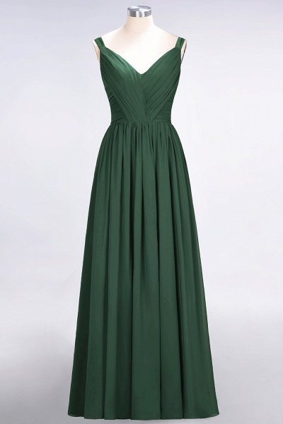 A-Line Chiffon Straps V-Neck Sleeveless Backless Floor-Length Bridesmaid Dress with Ruffles_30