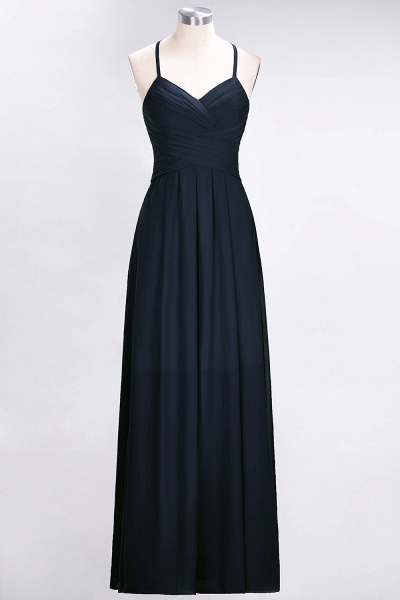 A-Line Chiffon Halter V-Neck Sleeveless Floor-Length Bridesmaid Dress with Ruffles_27