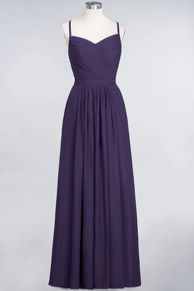 A-Line Chiffon Spaghetti-Straps Sweetheart Sleeveless Floor-Length Bridesmaid Dress with Ruffles_18