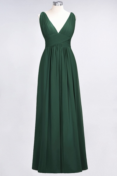 A-Line Chiffon V-Neck Sleeveless Floor-Length Bridesmaid Dress with Ruffle_30