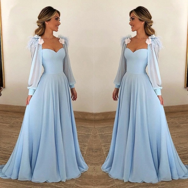 Precious Sweetheart Appliques A-line Prom Dress_2