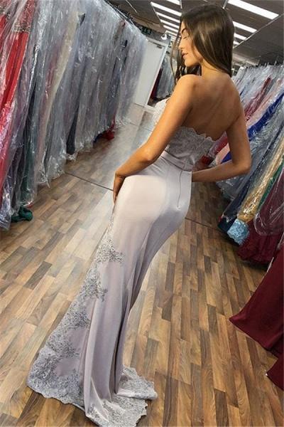 Exquisite Strapless Split Front Mermaid Prom Dress_2