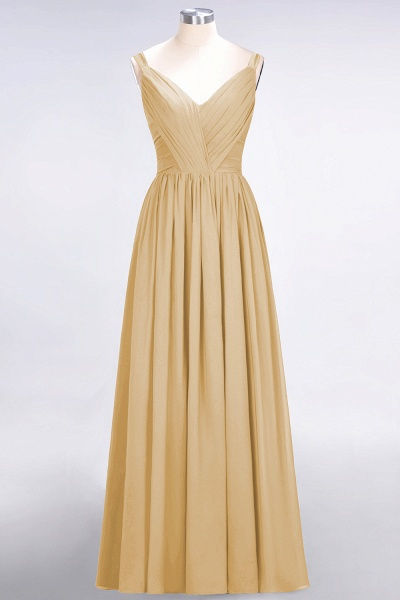 A-Line Chiffon Straps V-Neck Sleeveless Backless Floor-Length Bridesmaid Dress with Ruffles_13