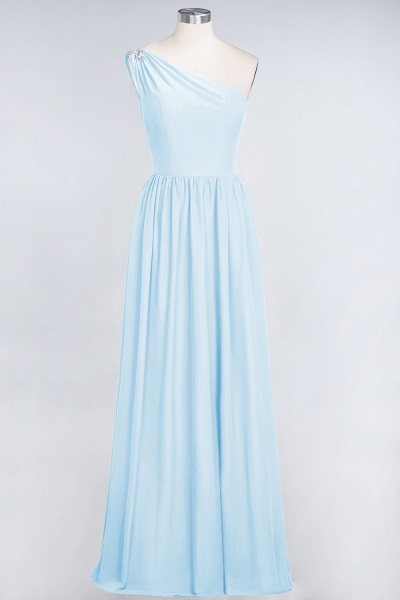 A-Line Chiffon One-Shoulder Sleeveless Ruffles Floor-Length Bridesmaid Dress with Beadings_22