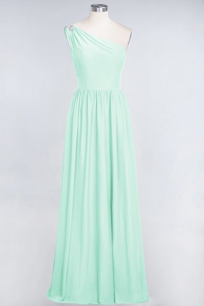 A-Line Chiffon One-Shoulder Sleeveless Ruffles Floor-Length Bridesmaid Dress with Beadings_34