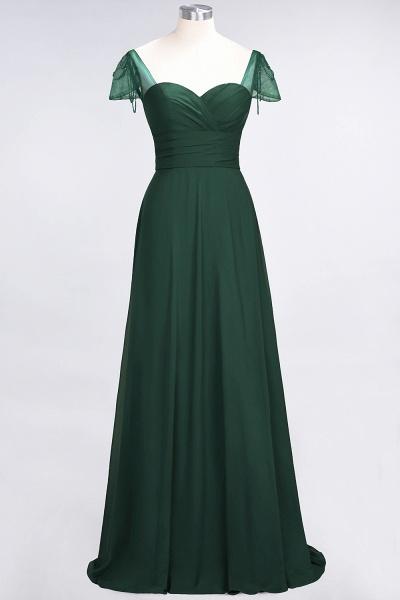 A-Line Chiffon Sweetheart Cap-Sleeves Ruffle Floor-Length Bridesmaid Dress with Beadings_30