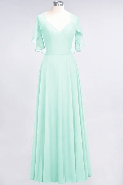 A-Line Chiffon Satin V-Neck short-sleeves Floor-Length Bridesmaid Dress_34