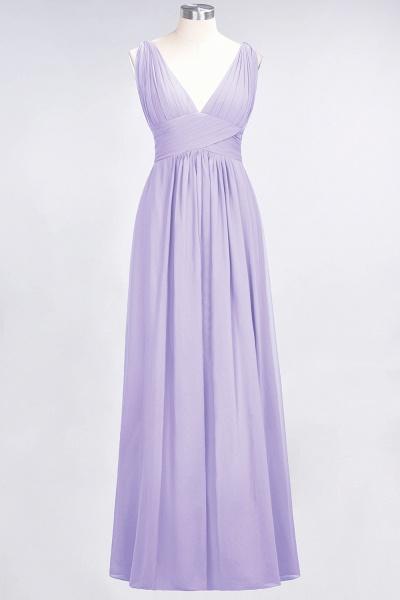 A-Line Chiffon V-Neck Sleeveless Floor-Length Bridesmaid Dress with Ruffle_20