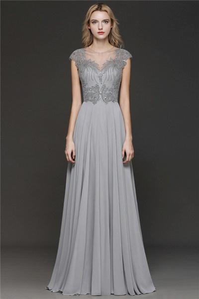 BM0755 Crystal Appliques Sweetheart Cap sleeves Side Slit Bridesmaid Dress_1
