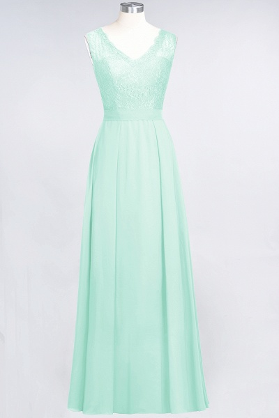 A-Line Chiffon Lace V-Neck Sleeveless Floor-Length Bridesmaid Dress_34