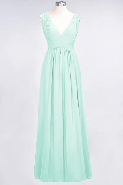 A-Line Chiffon V-Neck Sleeveless Floor-Length Bridesmaid Dress with Ruffle_34