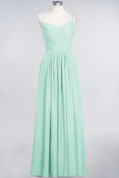 A-Line Chiffon Spaghetti-Straps Sweetheart Sleeveless Floor-Length Bridesmaid Dress with Ruffles_34