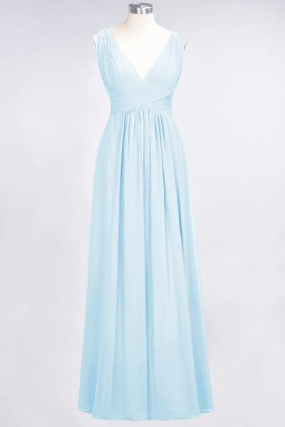 A-Line Chiffon V-Neck Sleeveless Floor-Length Bridesmaid Dress with Ruffle_22