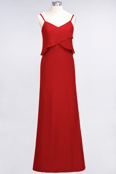 A-Line Chiffon Spaghetti-Straps V-Neck Sleeveless Floor-Length Bridesmaid Dress_8
