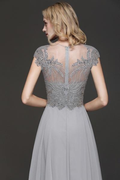 BM0755 Crystal Appliques Sweetheart Cap sleeves Side Slit Bridesmaid Dress_4