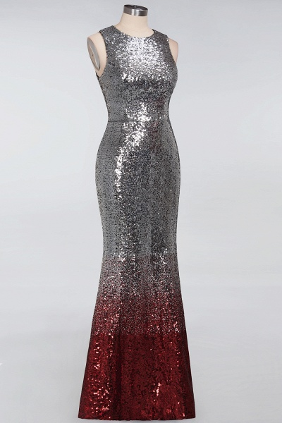 BM0765 Sleeveless Sexy Mermaid Sequins Bridesmaid Dress_6