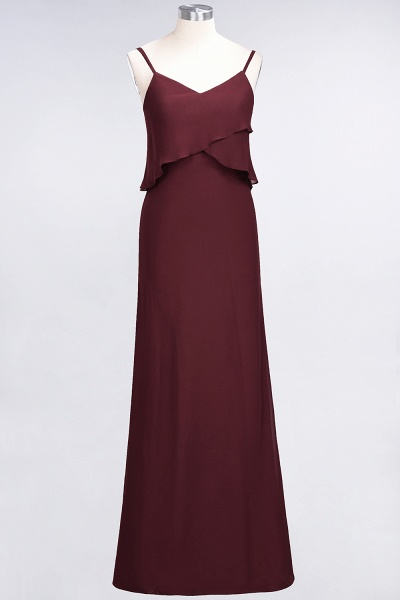 A-Line Chiffon Spaghetti-Straps V-Neck Sleeveless Floor-Length Bridesmaid Dress_10