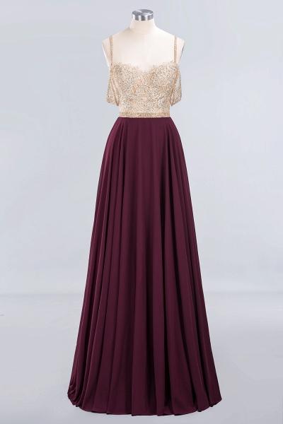 BM0761 Appliques Spaghetti Straps A-line Bridesmaid Dress_9