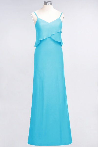 A-Line Chiffon Spaghetti-Straps V-Neck Sleeveless Floor-Length Bridesmaid Dress_23