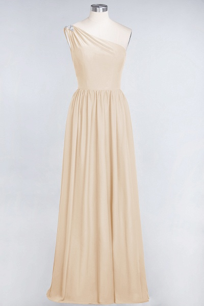 A-Line Chiffon One-Shoulder Sleeveless Ruffles Floor-Length Bridesmaid Dress with Beadings_14