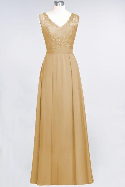 A-Line Chiffon Lace V-Neck Sleeveless Floor-Length Bridesmaid Dress_13