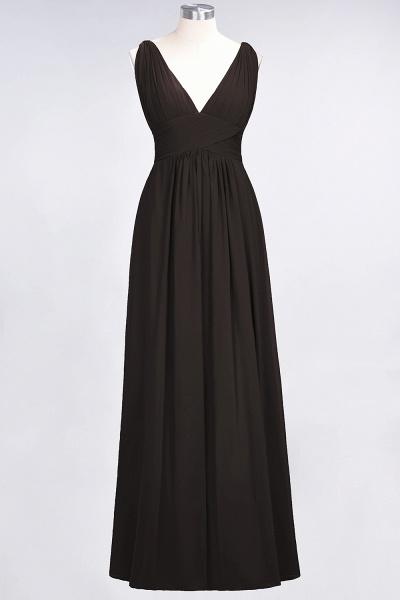 A-Line Chiffon V-Neck Sleeveless Floor-Length Bridesmaid Dress with Ruffle_11