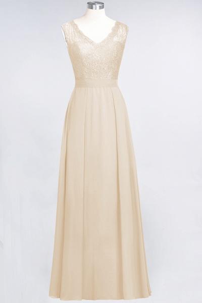 A-Line Chiffon Lace V-Neck Sleeveless Floor-Length Bridesmaid Dress_14