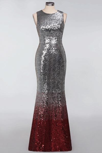 BM0765 Sleeveless Sexy Mermaid Sequins Bridesmaid Dress_4
