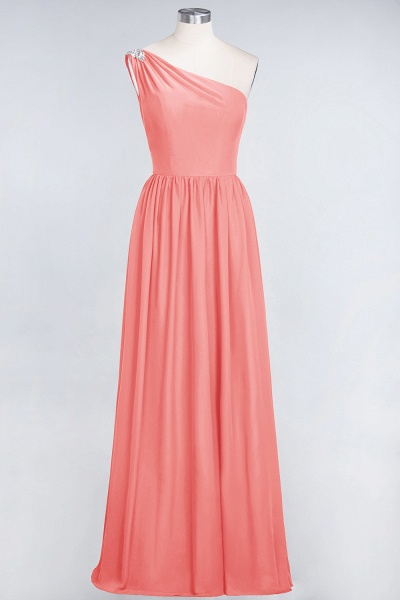 A-Line Chiffon One-Shoulder Sleeveless Ruffles Floor-Length Bridesmaid Dress with Beadings_7
