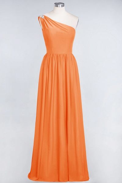 A-Line Chiffon One-Shoulder Sleeveless Ruffles Floor-Length Bridesmaid Dress with Beadings_15