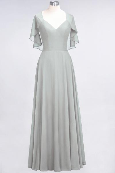 A-Line Chiffon Satin V-Neck short-sleeves Floor-Length Bridesmaid Dress_29