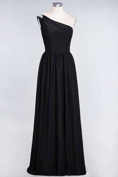 A-Line Chiffon One-Shoulder Sleeveless Ruffles Floor-Length Bridesmaid Dress with Beadings_28