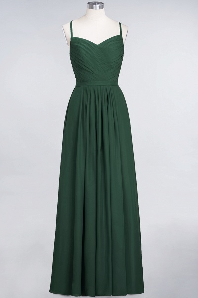 A-Line Chiffon Spaghetti-Straps Sweetheart Sleeveless Floor-Length Bridesmaid Dress with Ruffles_30