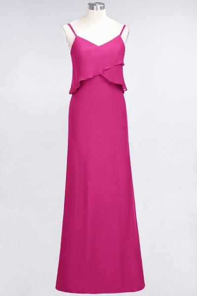 A-Line Chiffon Spaghetti-Straps V-Neck Sleeveless Floor-Length Bridesmaid Dress_9