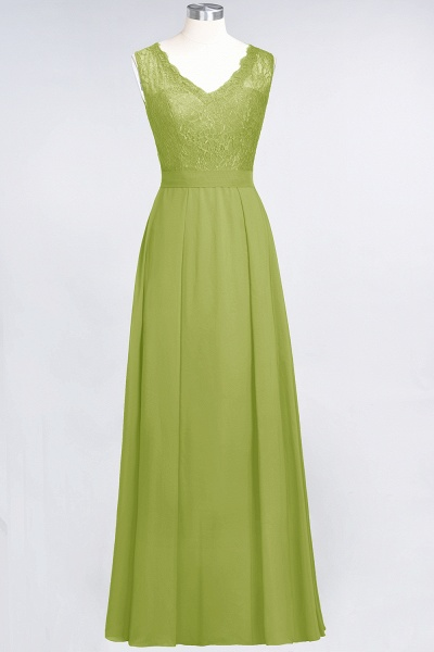 A-Line Chiffon Lace V-Neck Sleeveless Floor-Length Bridesmaid Dress_32