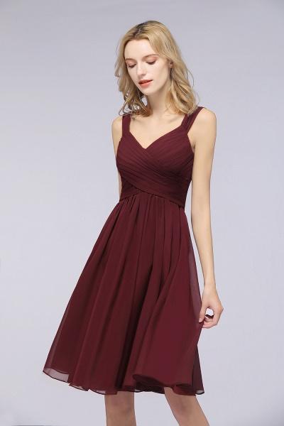 BM0410 Sexy Ruffles Straps Sleeveless Short Bridesmaid Dresses_3