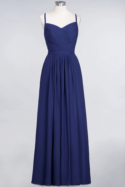 A-Line Chiffon Spaghetti-Straps Sweetheart Sleeveless Floor-Length Bridesmaid Dress with Ruffles_25