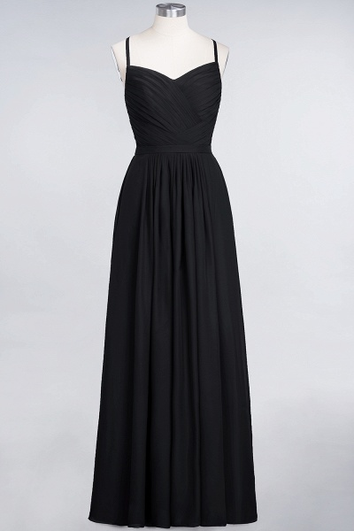 A-Line Chiffon Spaghetti-Straps Sweetheart Sleeveless Floor-Length Bridesmaid Dress with Ruffles_28
