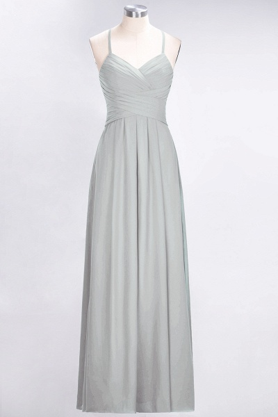 A-Line Chiffon Halter V-Neck Sleeveless Floor-Length Bridesmaid Dress with Ruffles_29