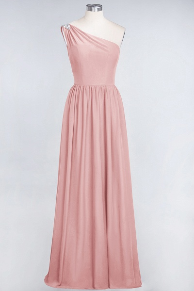 A-Line Chiffon One-Shoulder Sleeveless Ruffles Floor-Length Bridesmaid Dress with Beadings_6